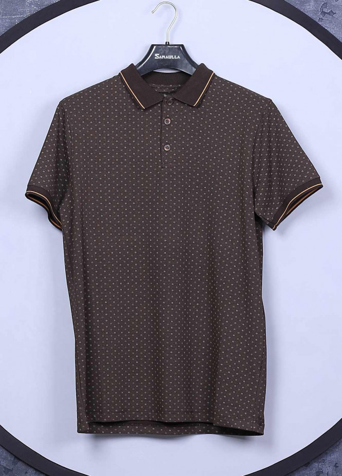 Sanaulla Exclusive Range Cotton Casual T-Shirts for Men -  5525 Brown