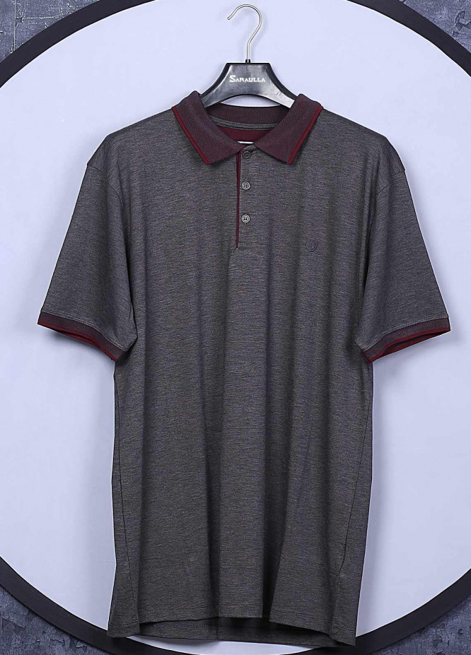 Sanaulla Exclusive Range Cotton Casual Men T-Shirts -  5570 Light Grey