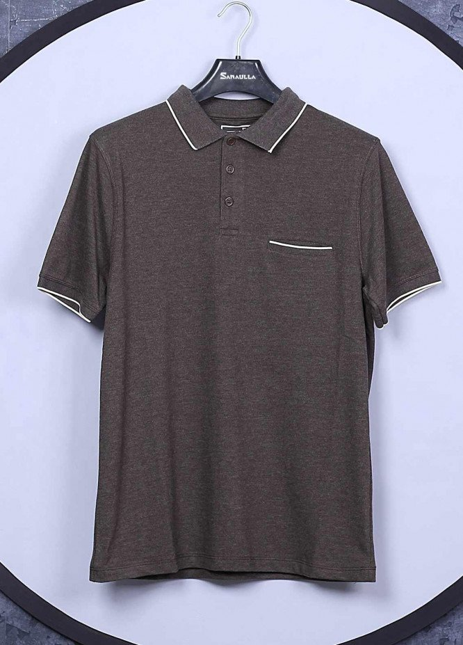Sanaulla Exclusive Range Cotton Casual T-Shirts for Men -  5595 Brown