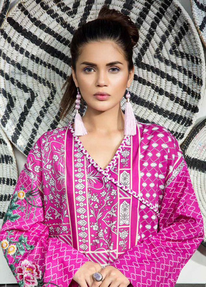 Mahgul by Al Zohaib Embroidered Lawn Unstitched 3 Piece Suit MG18L 7A - Spring / Summer Collection