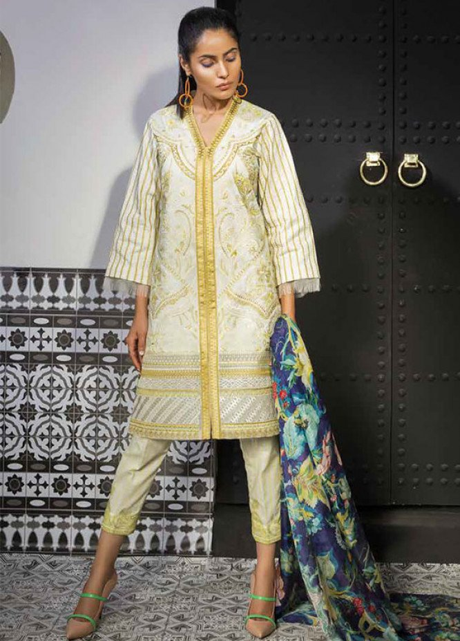 Mahgul by Al Zohaib Embroidered Lawn Unstitched 3 Piece Suit MG18L 8B - Spring / Summer Collection