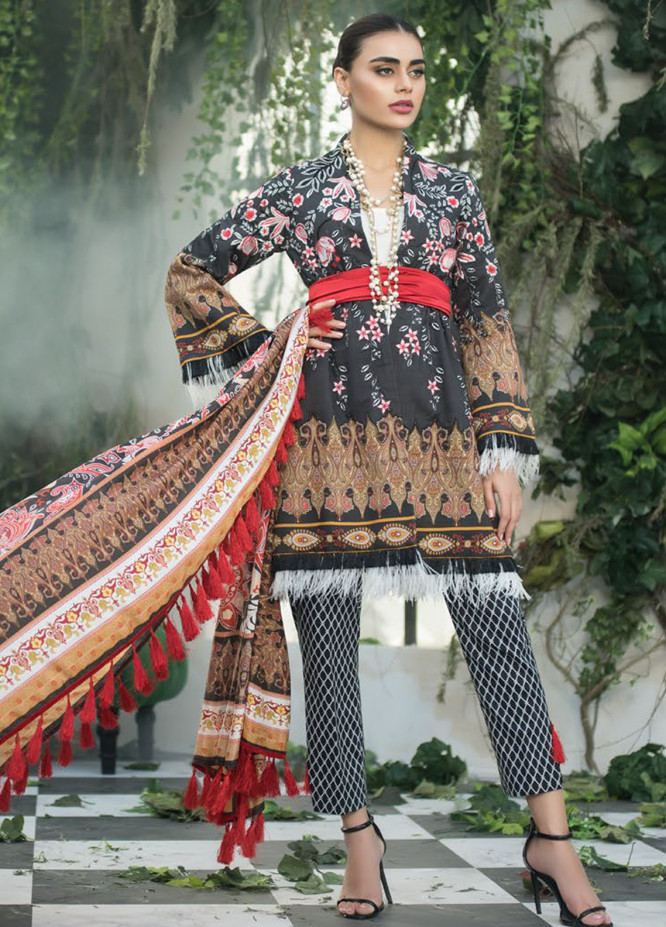 Maheen Karim by ZS Textile Embroidered Lawn Unstitched 3 Piece Suit MHK18L 13 - Spring / Summer Collection