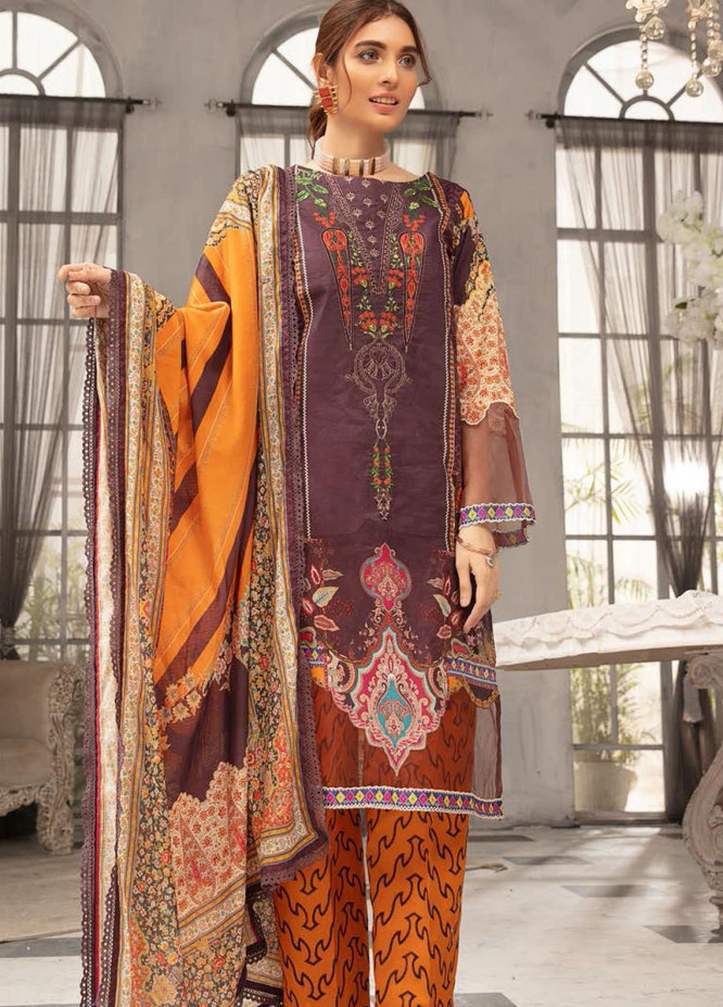 Mina Sophia By Riaz Arts Embroidered Lawn Suits Unstitched 3 Piece RA21MS D-02 - Summer Collection