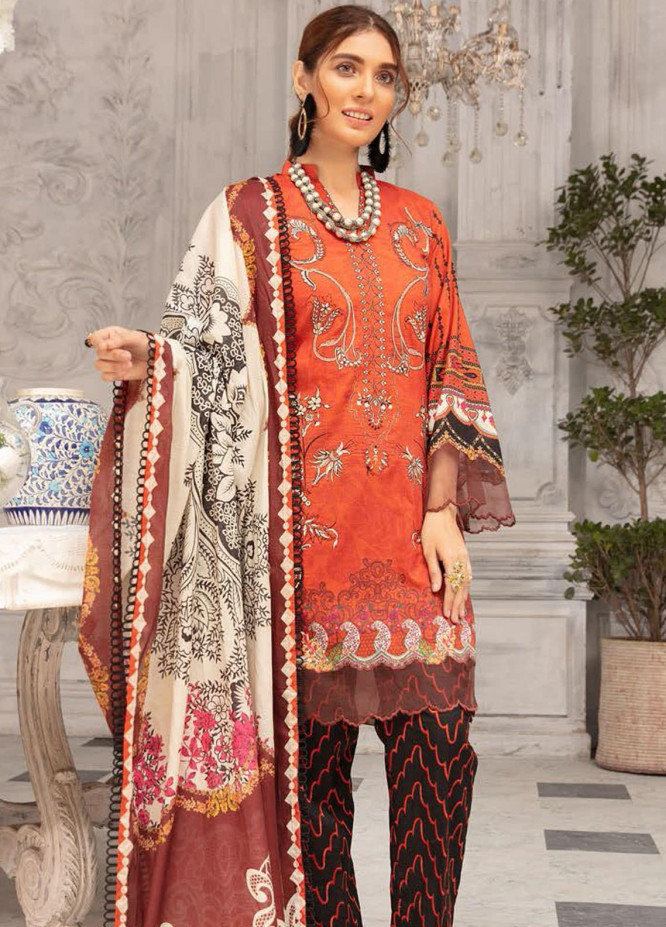Mina Sophia By Riaz Arts Embroidered Lawn Suits Unstitched 3 Piece RA21MS D-07 - Summer Collection