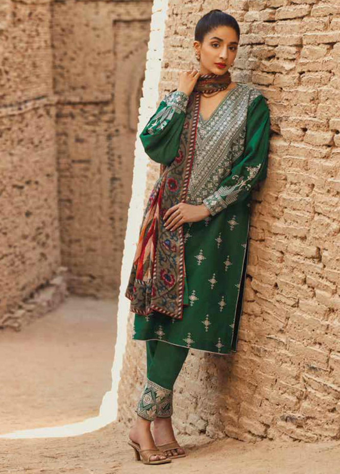 Mizaj By Tena Durrani Embroidered Dobby Suits Unstitched 3 Piece TD21M-2 24 Ming - Summer Collection