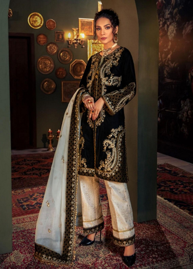 Mohagni Embroidered Velvet Suits Unstitched 3 Piece MO21EV MV-20-07 - Luxury Collection