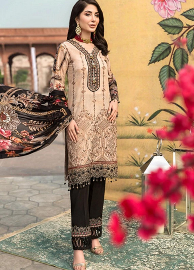 Mohagni Embroidered Lawn Suits Unstitched 3 Piece MO21F MBE-20-01 - Festive Collection