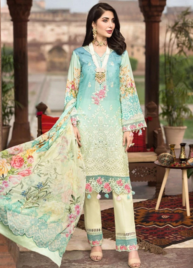 Mohagni Embroidered Lawn Suits Unstitched 3 Piece MO21F MBE-20-04 - Festive Collection