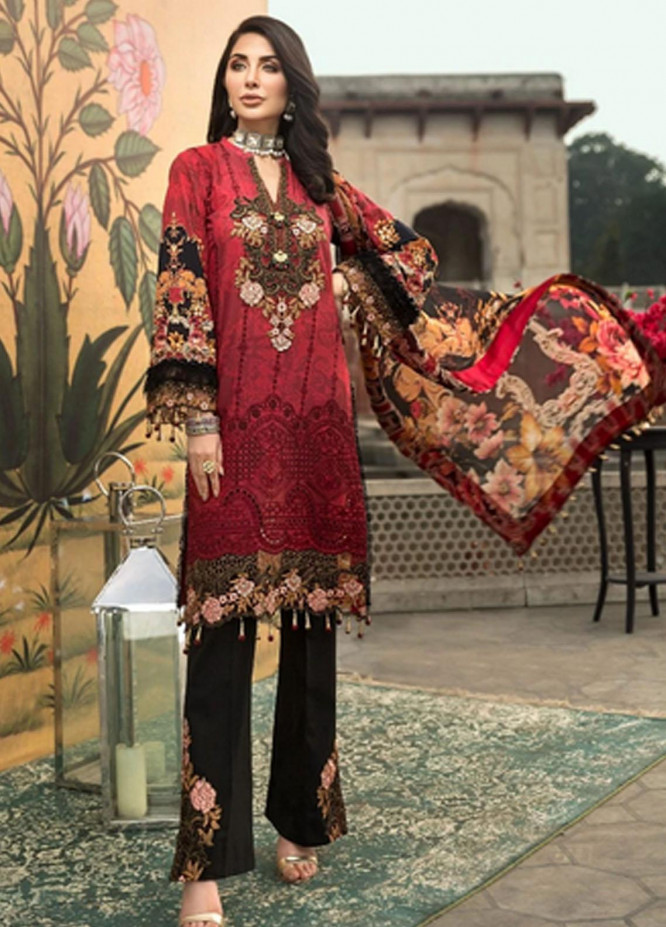 Mohagni Embroidered Lawn Suits Unstitched 3 Piece MO21F MBE-20-06 - Festive Collection
