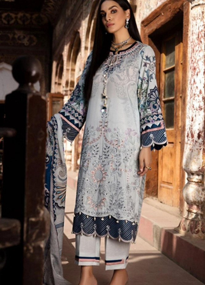 Mohagni Embroidered Lawn Suits Unstitched 3 Piece MO21F MPL-21-01 - Festive Collection