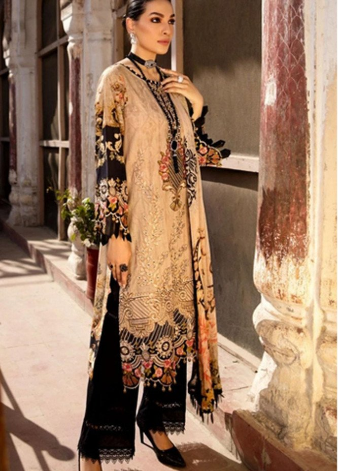Mohagni Embroidered Lawn Suits Unstitched 3 Piece MO21F MPL-21-03 - Festive Collection