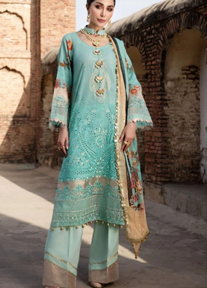 Mohagni Embroidered Lawn Suits Unstitched 3 Piece MO21F MPL-21-04 - Festive Collection