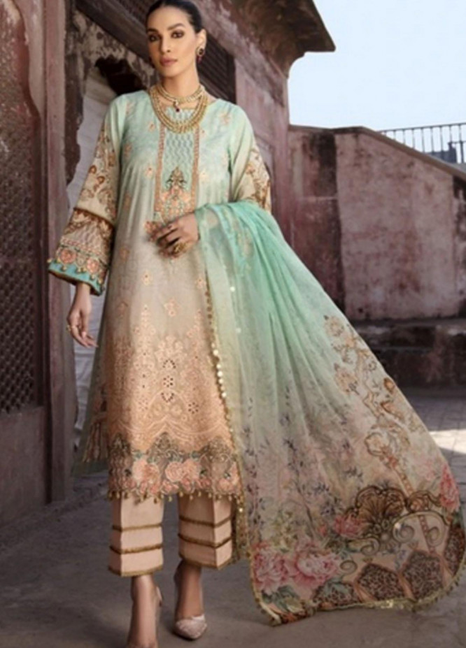 Mohagni Embroidered Lawn Suits Unstitched 3 Piece MO21F MPL-21-05 - Festive Collection