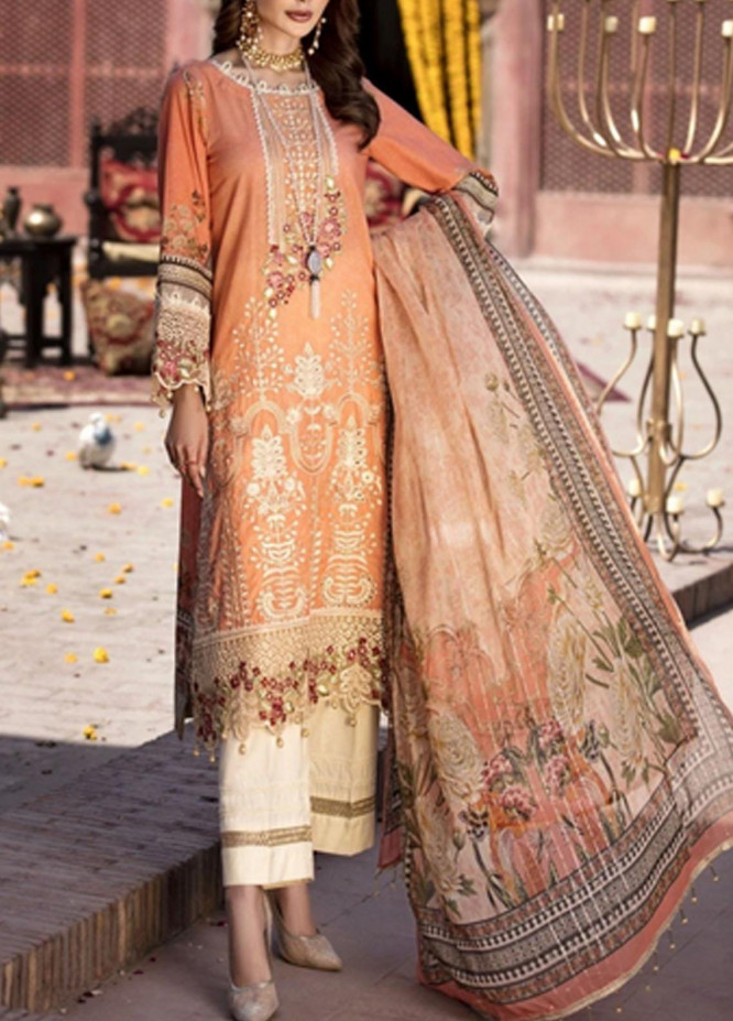 Mohagni Embroidered Lawn Suits Unstitched 3 Piece MO21F MPL-21-06 - Festive Collection