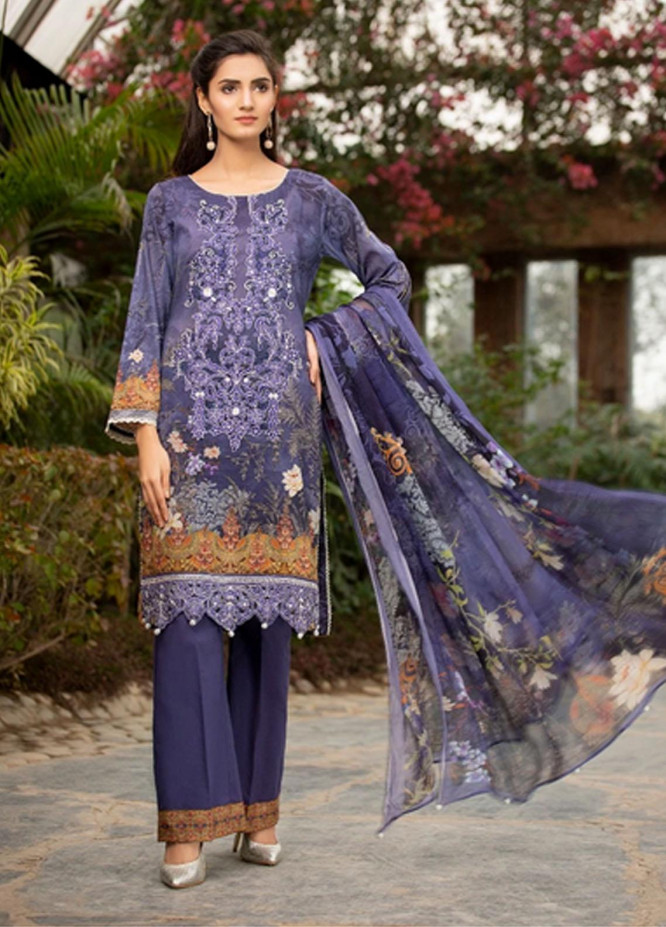 Mohagni Embroidered Lawn Suits Unstitched 3 Piece MO21F SLD-20A-05 - Festive Collection