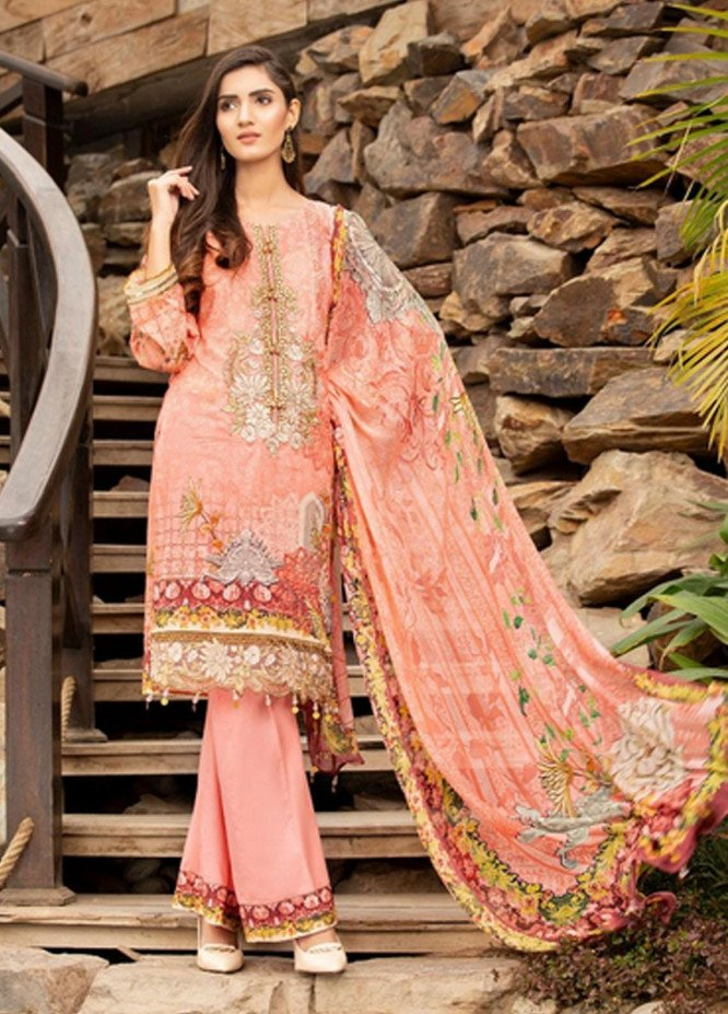 Mohagni Embroidered Lawn Suits Unstitched 3 Piece MO21F SLD-20A-08 - Festive Collection