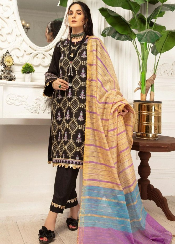 Mohagni Embroidered Lawn Suits Unstitched 3 Piece MO21LF MBD-21-03 - Summer Collection