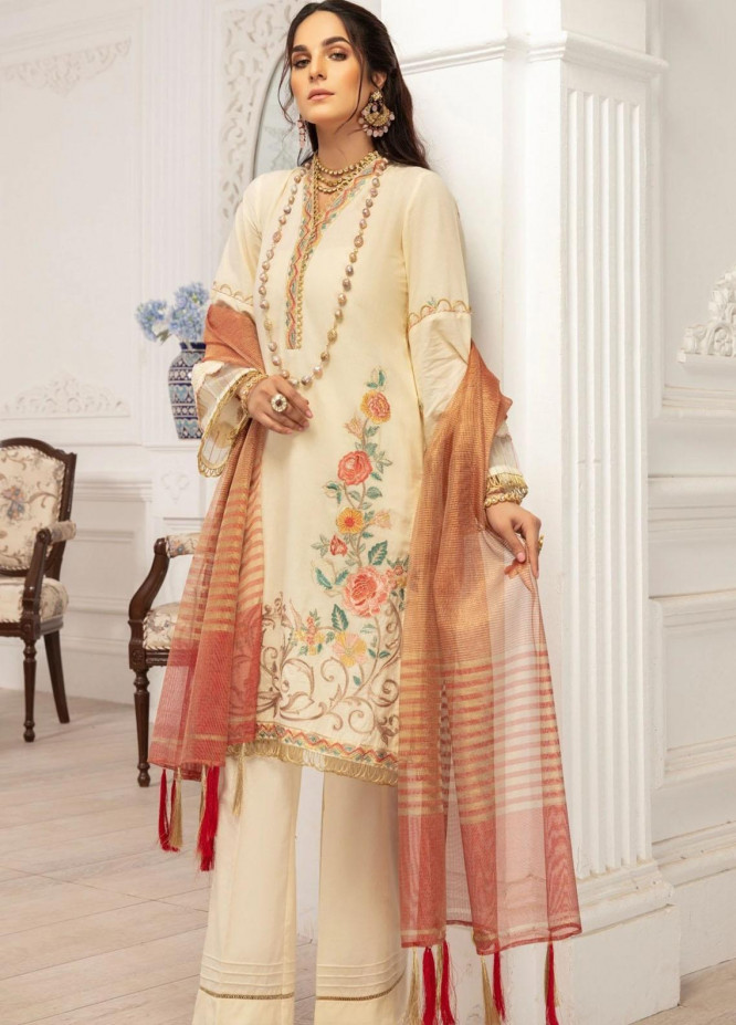 Mohagni Embroidered Lawn Suits Unstitched 3 Piece MO21LF MBD-21-05 - Summer Collection
