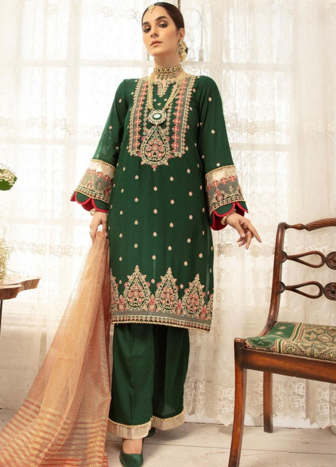 Mohagni Embroidered Lawn Suits Unstitched 3 Piece MO21LF MBD-21-06 - Summer Collection