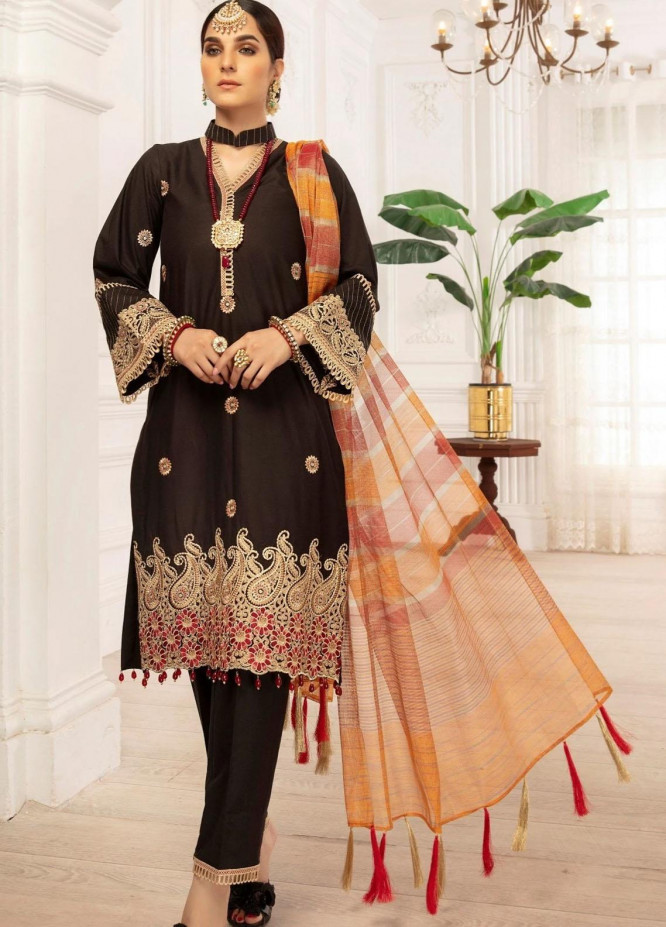 Mohagni Embroidered Lawn Suits Unstitched 3 Piece MO21LF MBD-21-07 - Summer Collection