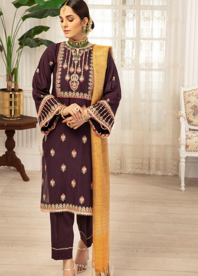 Mohagni Embroidered Lawn Suits Unstitched 3 Piece MO21LF MBD-21-08 - Summer Collection