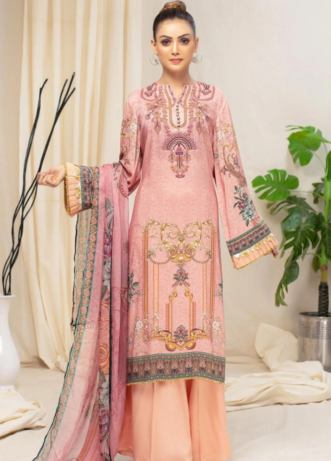 Mohagni Printed Viscose Suits Unstitched 3 Piece MO21RJ MOB-21-01 - Winter Collection