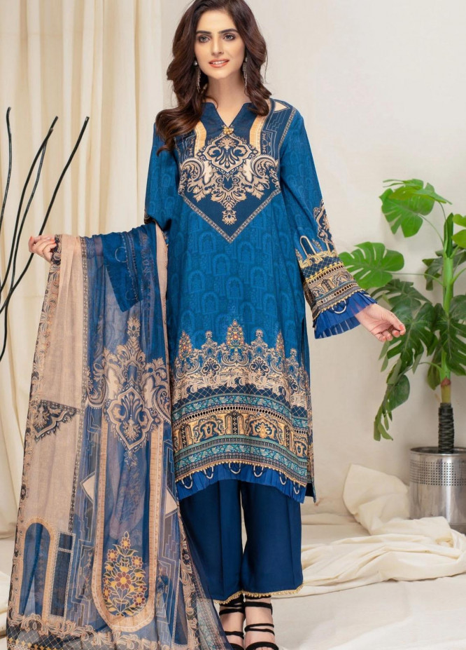 Mohagni Printed Viscose Suits Unstitched 3 Piece MO21RJ MOB-21-03 - Winter Collection