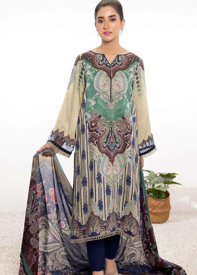 Mohagni Printed Linen Suits Unstitched 2 Piece MO21RJ TPL-21-01 - Winter Collection