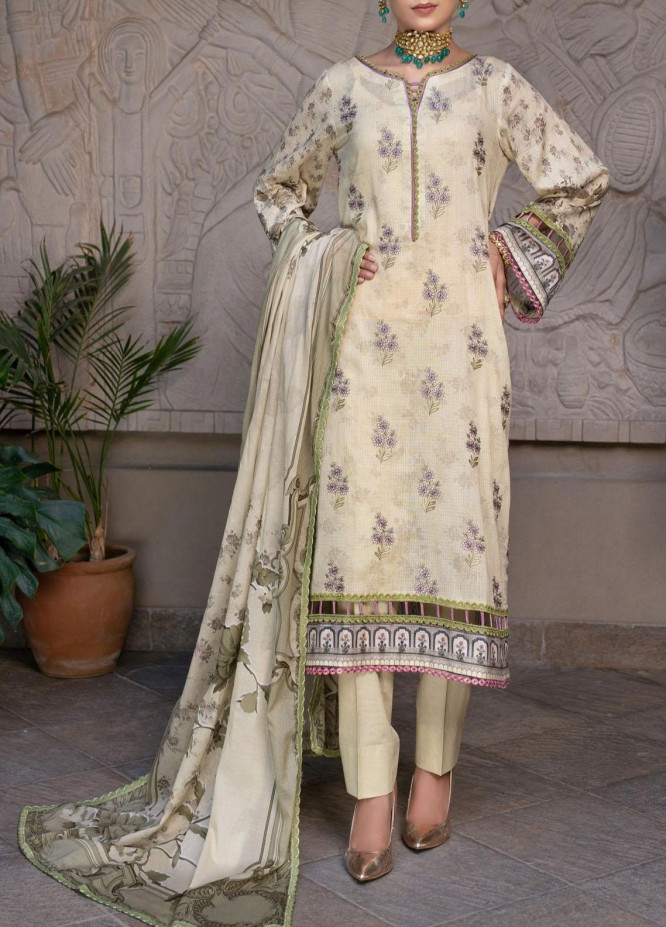 Mohagni Embroidered Lawn Suits Unstitched 3 Piece MO21EL 27573 - Summer Collection