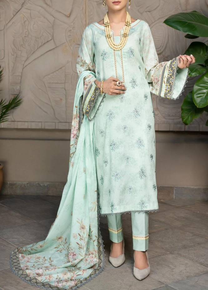Mohagni Embroidered Lawn Suits Unstitched 3 Piece MO21EL 27574 - Summer Collection