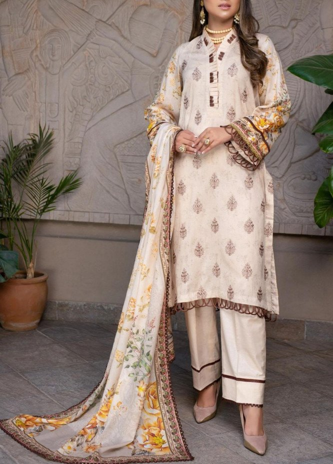 Mohagni Embroidered Lawn Suits Unstitched 3 Piece MO21EL 27575 - Summer Collection