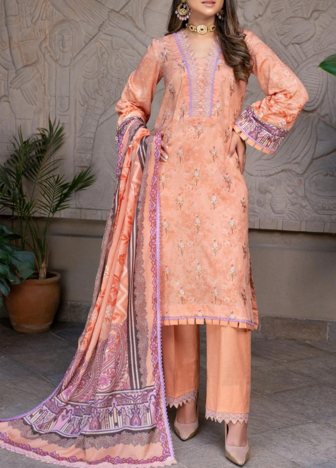 Mohagni Embroidered Lawn Suits Unstitched 3 Piece MO21EL 27577 - Summer Collection