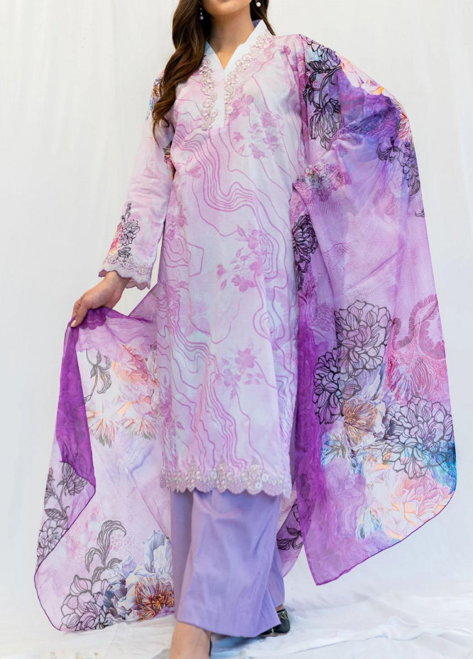 Mohne By Seroli Embroidered Lawn Suits Unstitched 3 Piece  SRL21M 02  - Summer Collection