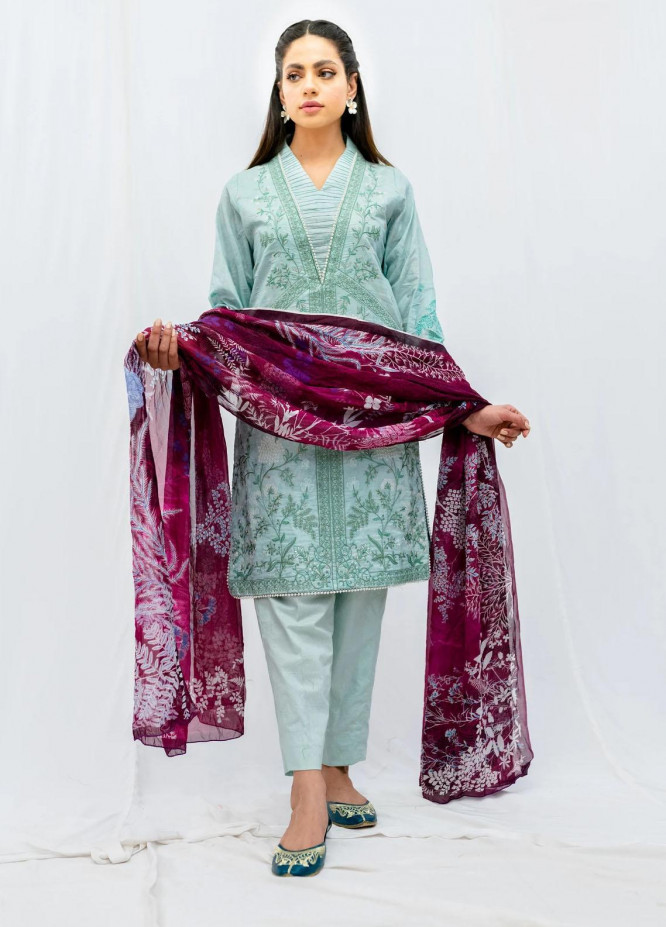 Mohne By Seroli Embroidered Lawn Suits Unstitched 3 Piece  SRL21M 03  - Summer Collection