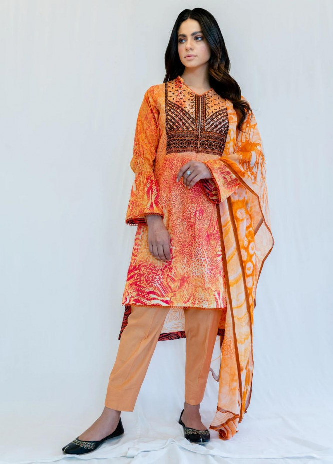 Mohne By Seroli Embroidered Lawn Suits Unstitched 3 Piece  SRL21M 06  - Summer Collection