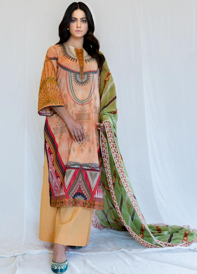 Mohne By Seroli Embroidered Lawn Suits Unstitched 3 Piece  SRL21M 07  - Summer Collection
