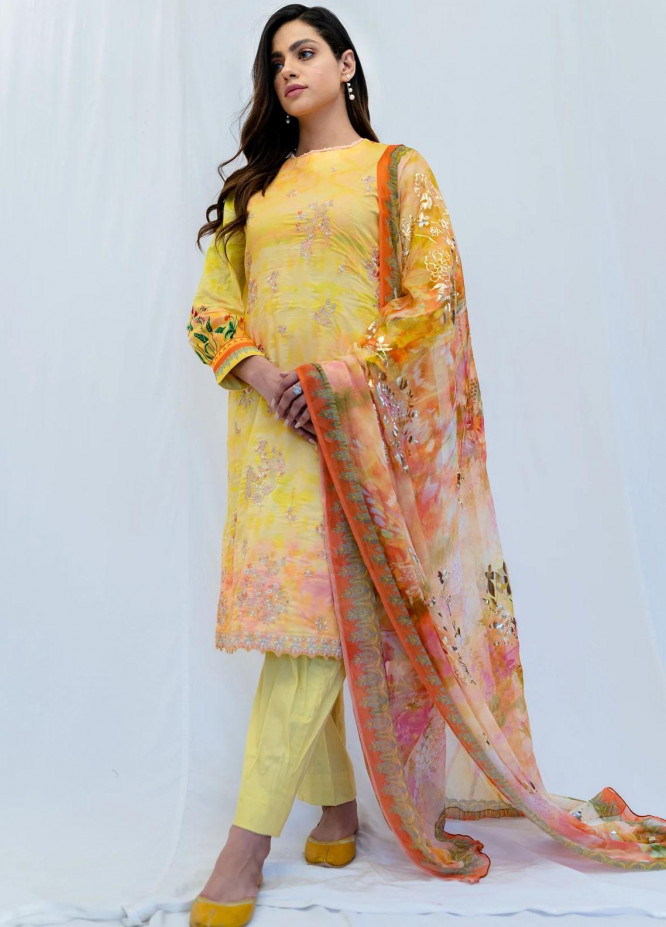 Mohne By Seroli Embroidered Lawn Suits Unstitched 3 Piece  SRL21M 08  - Summer Collection