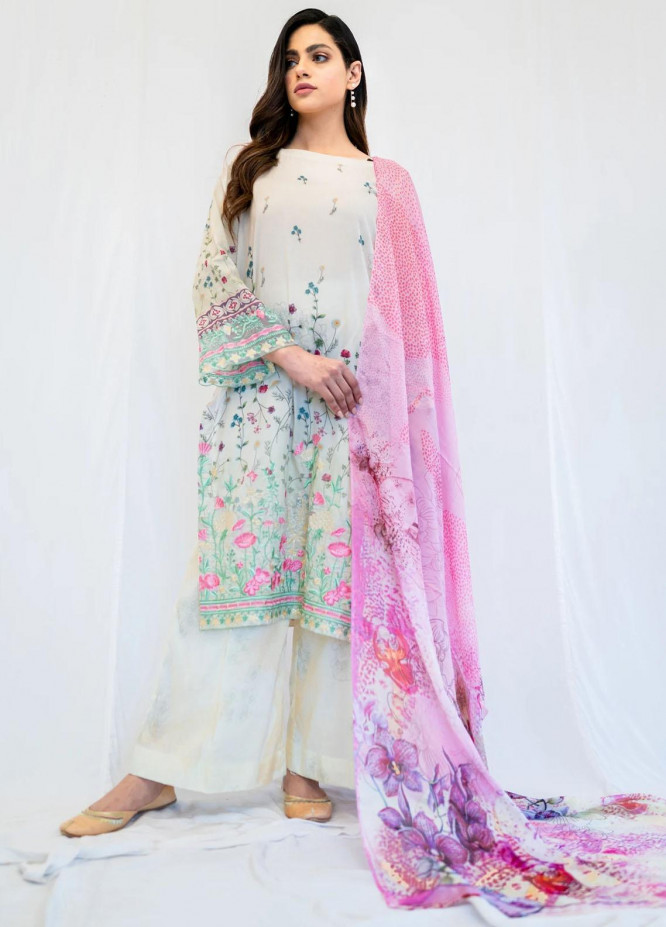 Mohne By Seroli Embroidered Lawn Suits Unstitched 3 Piece  SRL21M 09  - Summer Collection