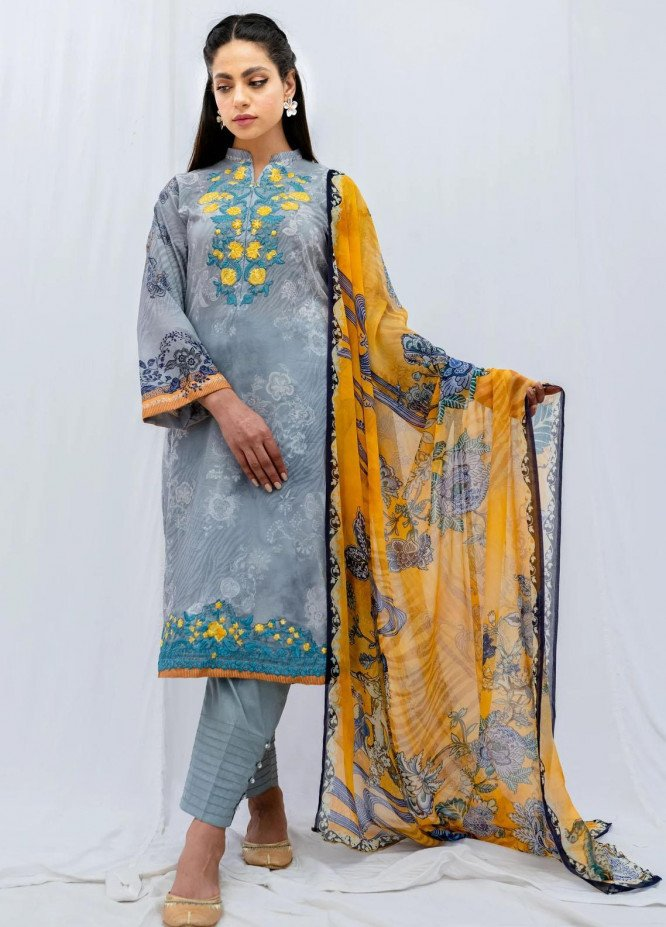 Mohne By Seroli Embroidered Lawn Suits Unstitched 3 Piece SRL21M 01 - Summer Collection