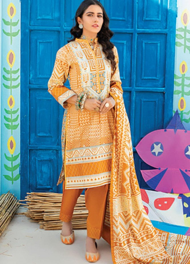 Monsoon Chunri by Al Zohaib Printed Lawn Suits Unstitched 3 Piece AZ21MC 1-A - Summer Collection