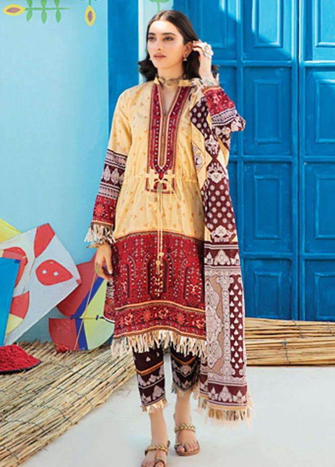 Monsoon Chunri by Al Zohaib Printed Lawn Suits Unstitched 3 Piece AZ21MC 2-B - Summer Collection
