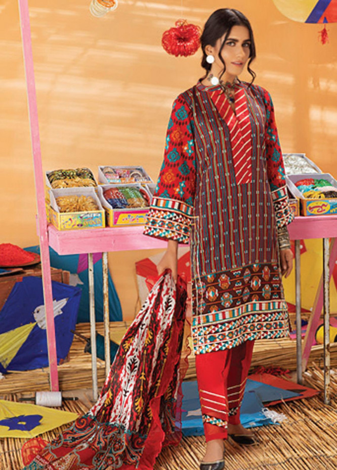 Monsoon Chunri by Al Zohaib Printed Lawn Suits Unstitched 3 Piece AZ21MC 5-A - Summer Collection