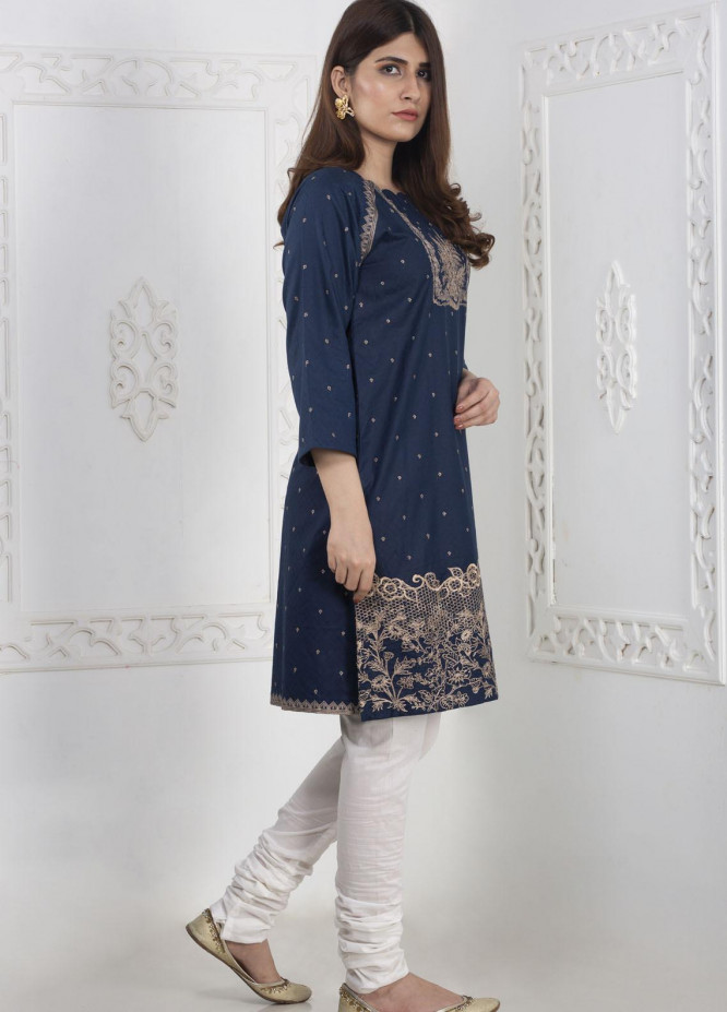 Mosaic Embroidered Linen Stitched Kurtis MS20K 260101