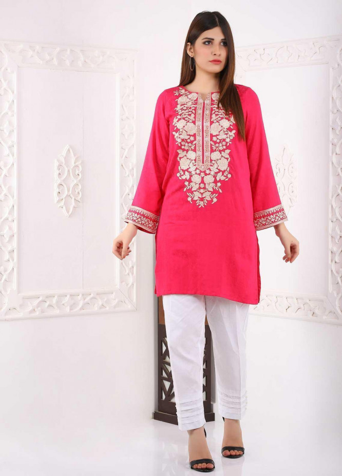 Mosaic Embroidered Linen Stitched Kurtis MS20K 280101