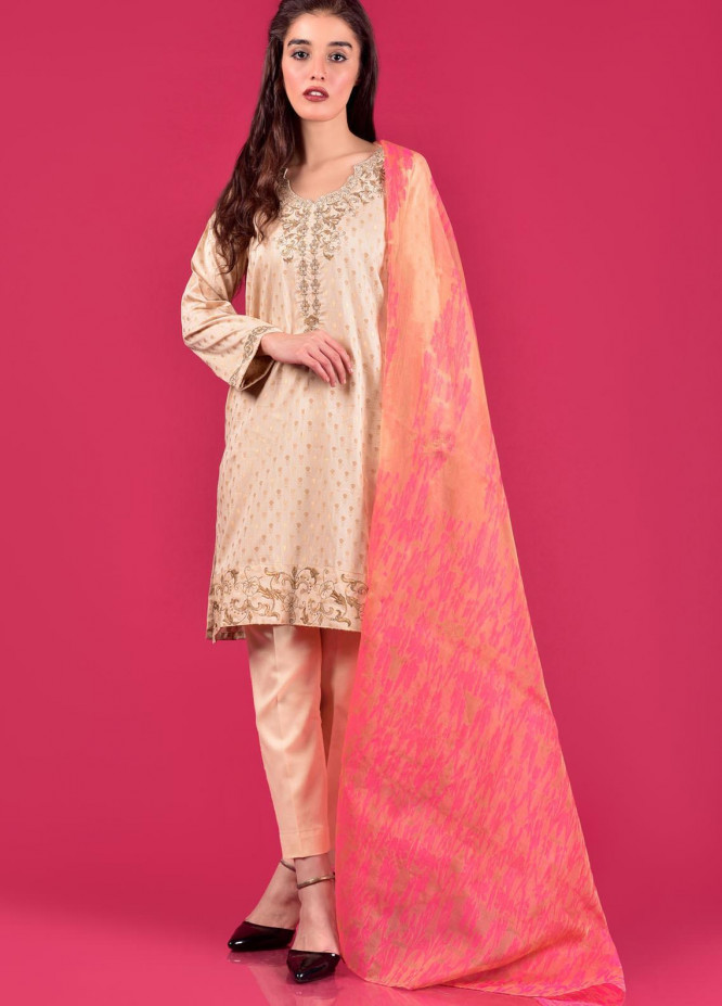Mosaic Embroidered Cotton Stitched 3 Piece Suit M20WP D-4701