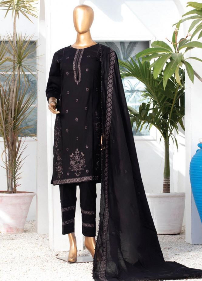 Dastaan By MTF Embroidered Lawn Suits Unstitched 3 Piece MTF21D 01 - Black & White Collection