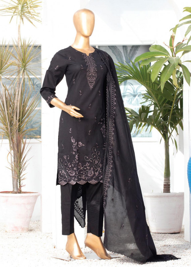 Dastaan By MTF Embroidered Lawn Suits Unstitched 3 Piece MTF21D 04 - Black & White Collection