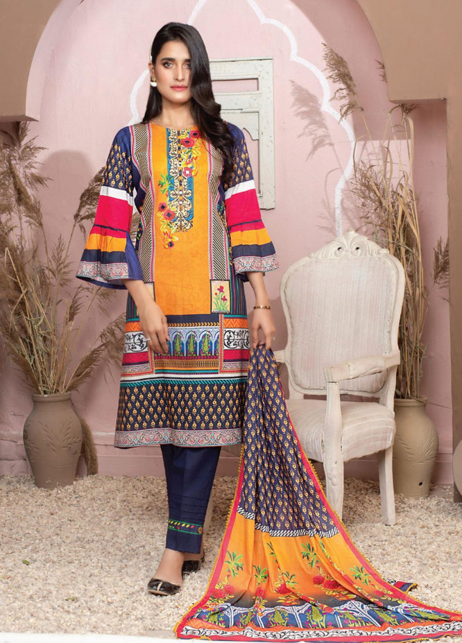 Casual Cool By MTF Printed Lawn Suits Unstitched 3 Piece MTF21CC 05 - Summer Collection