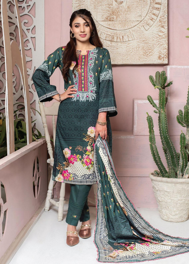 Casual Cool By MTF Printed Lawn Suits Unstitched 3 Piece MTF21CC 06 - Summer Collection