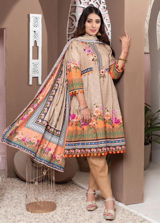 Casual Cool By MTF Printed Lawn Suits Unstitched 3 Piece MTF21CC 10 - Summer Collection